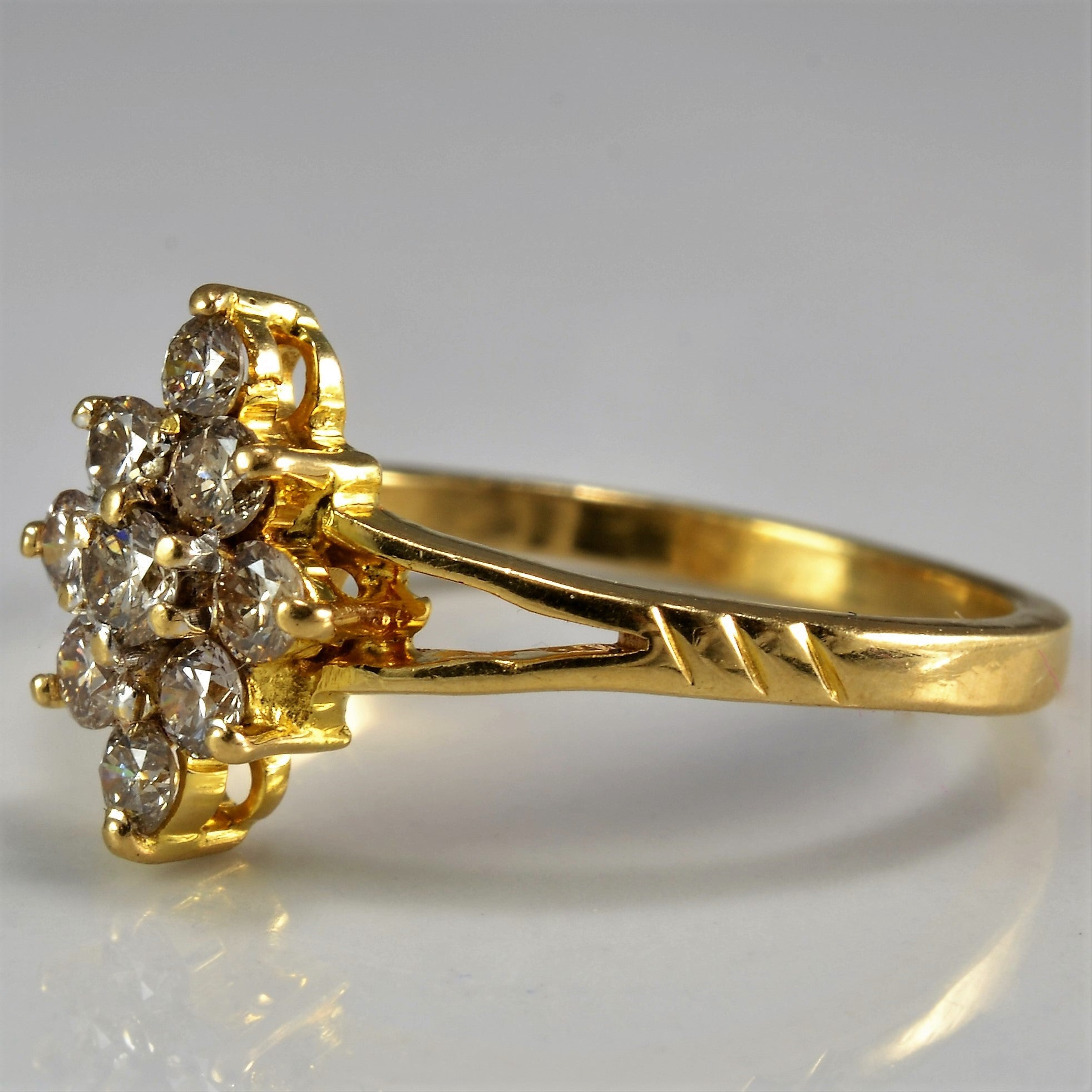 Split Shank Marquise Shaped Cluster Ring | 0.36 ctw, SZ 6 |