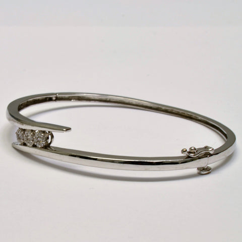 Bypass Triple Cluster Bangle | 0.25 ctw, 7"