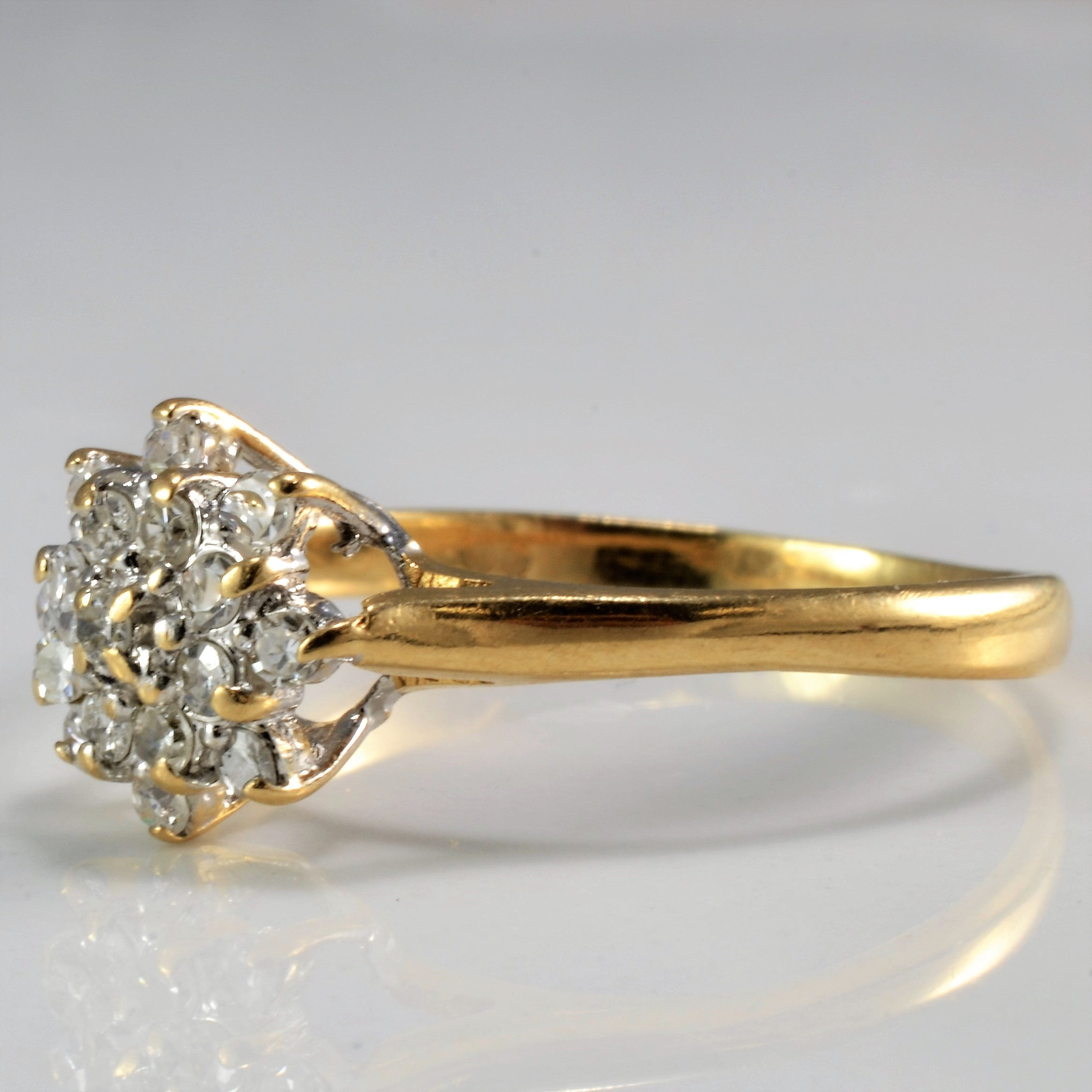 Classic Cluster Diamond Engagement Ring | 0.17 ctw, SZ 7.5 |