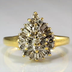 Pear Shaped Diamond Cluster Ring | 0.36 ctw, SZ 6.5 |