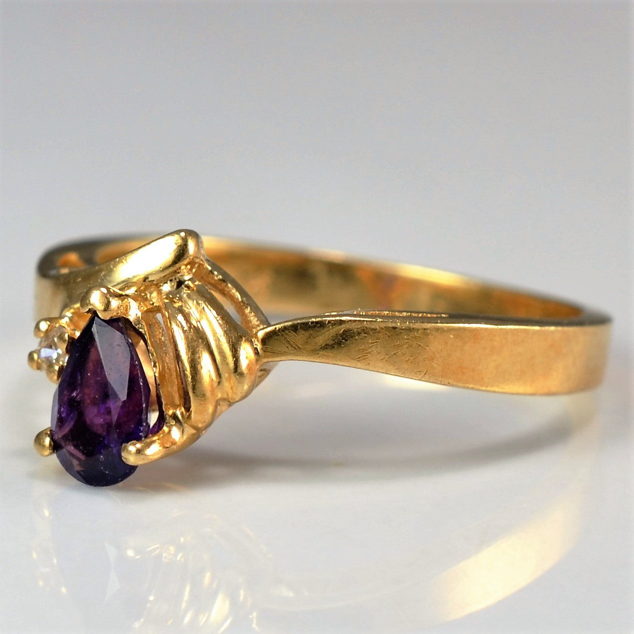 Pear Cut Amethyst Ring | SZ 6.25 |