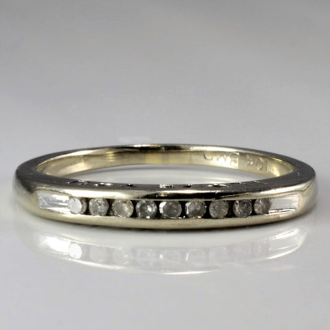 'I Love You' White Gold Diamond Band | 0.05 ctw, SZ 6 |