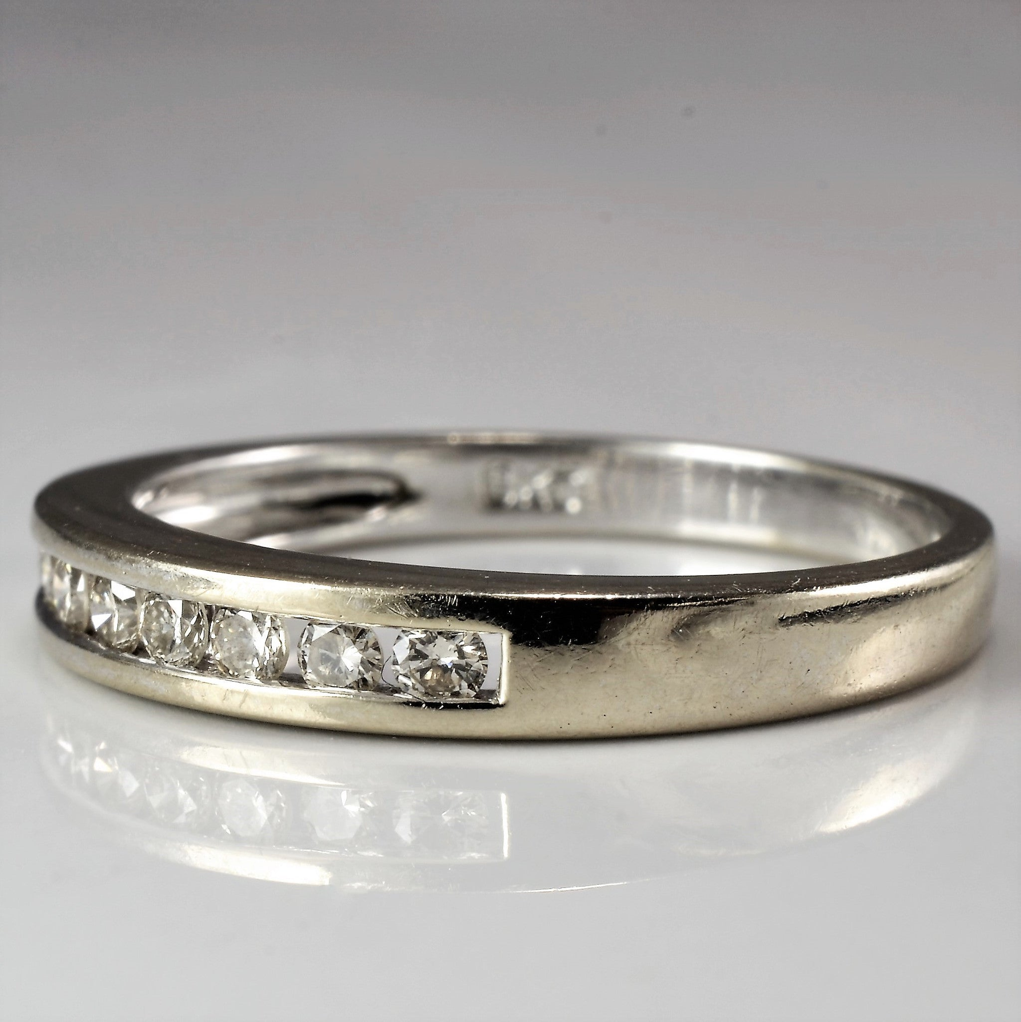 Simple Channel Set Diamond Band | 0.32 ctw, SZ 6.5 |