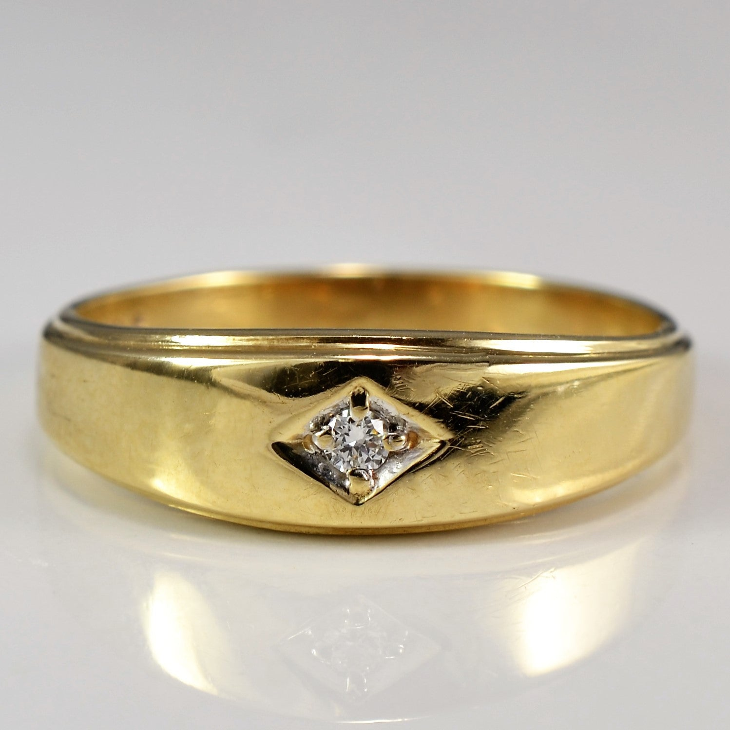 Retro Wedding Band | 0.03 ct, SZ 9.75 |
