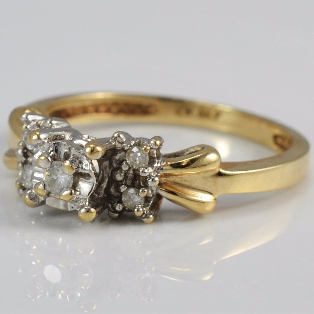 Retro Era Five Stone Diamond Ring | 0.10 ctw, SZ 7 |