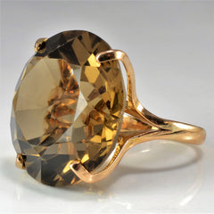 Smoky Quartz Gold Fashion Ring | SZ 5 |