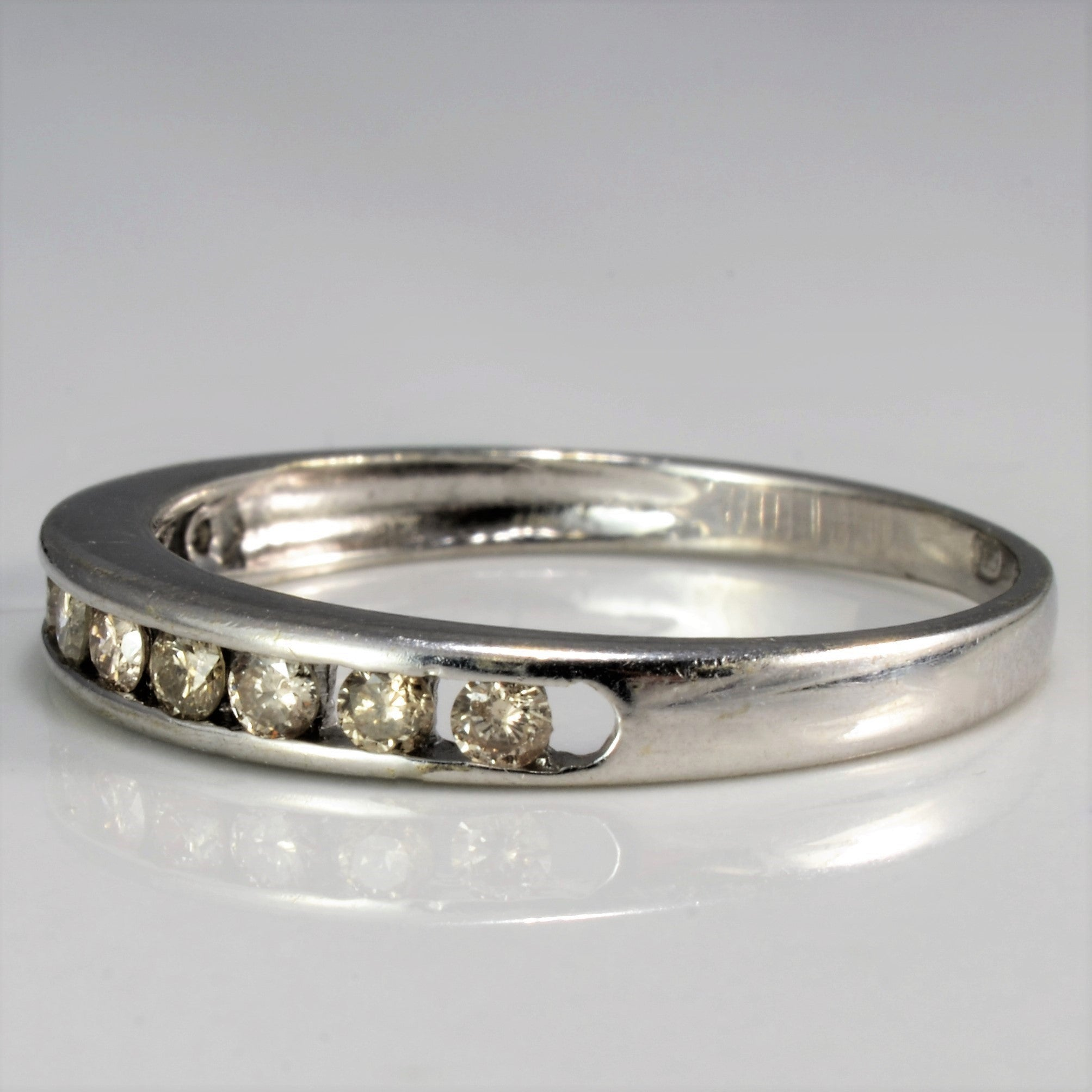 Channel Set Semi Eternity Diamond Band | 0.22 ctw, SZ 6.5 |