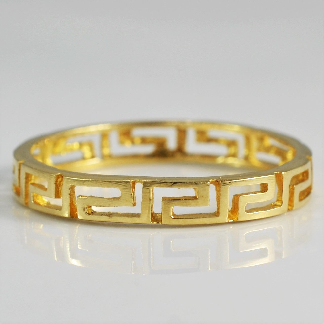 Gold Geometric Patterned Band | SZ 9 |