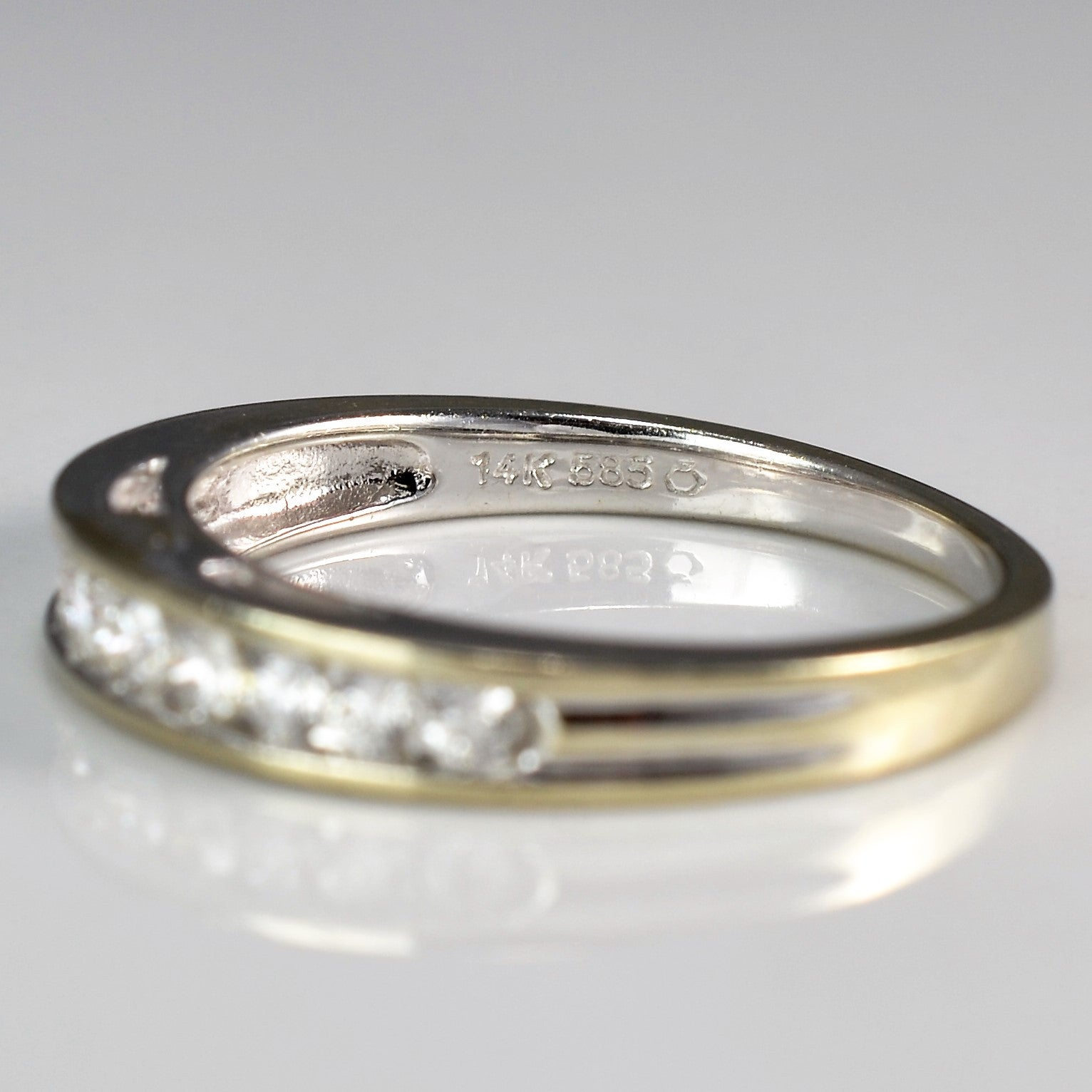 Channel Set Semi Eternity Band | 0.28 ctw, SZ 7 |
