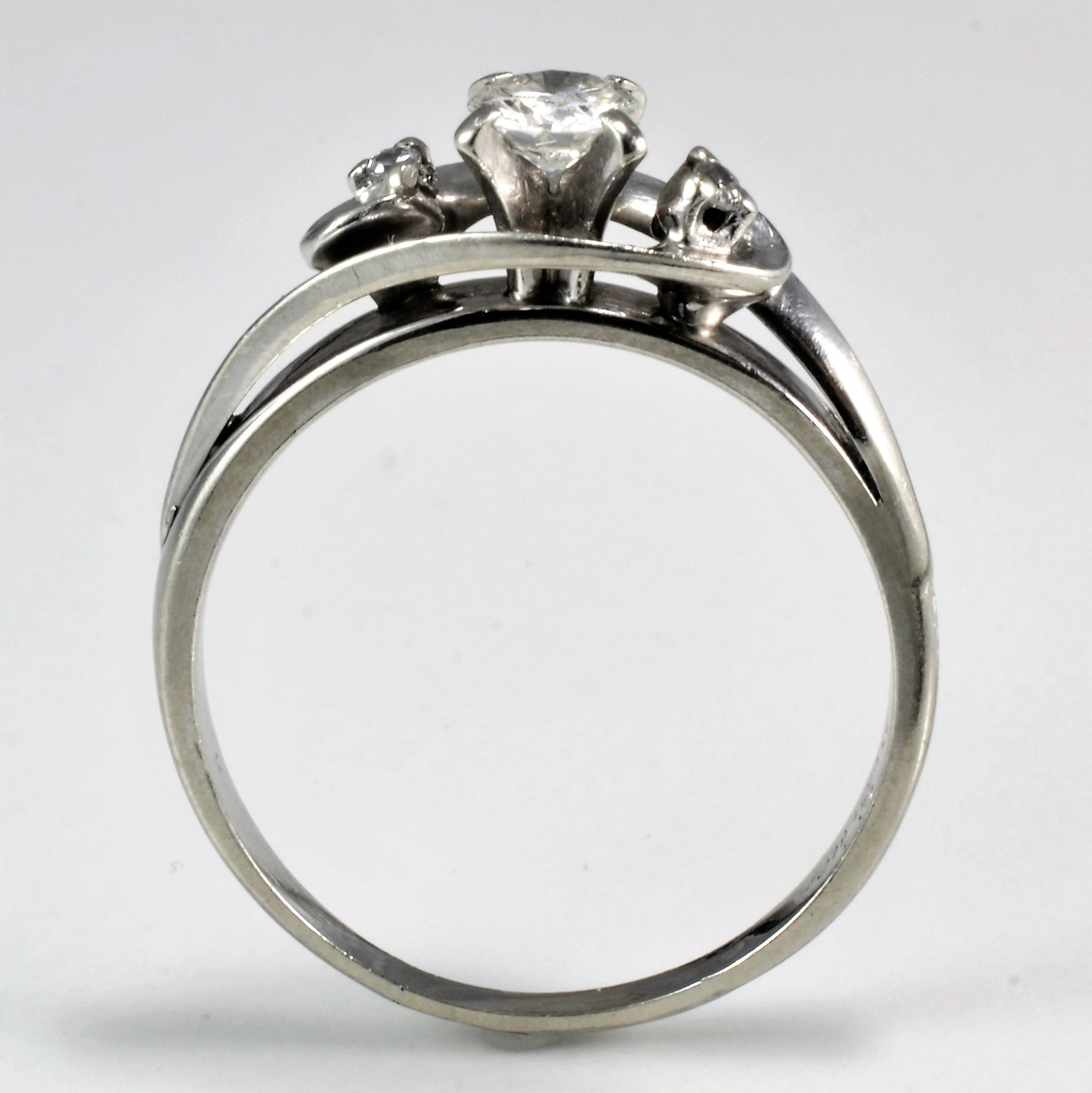 Bypass High Set Diamond Promise Ring | 0.28 ctw, SZ 7.5 |