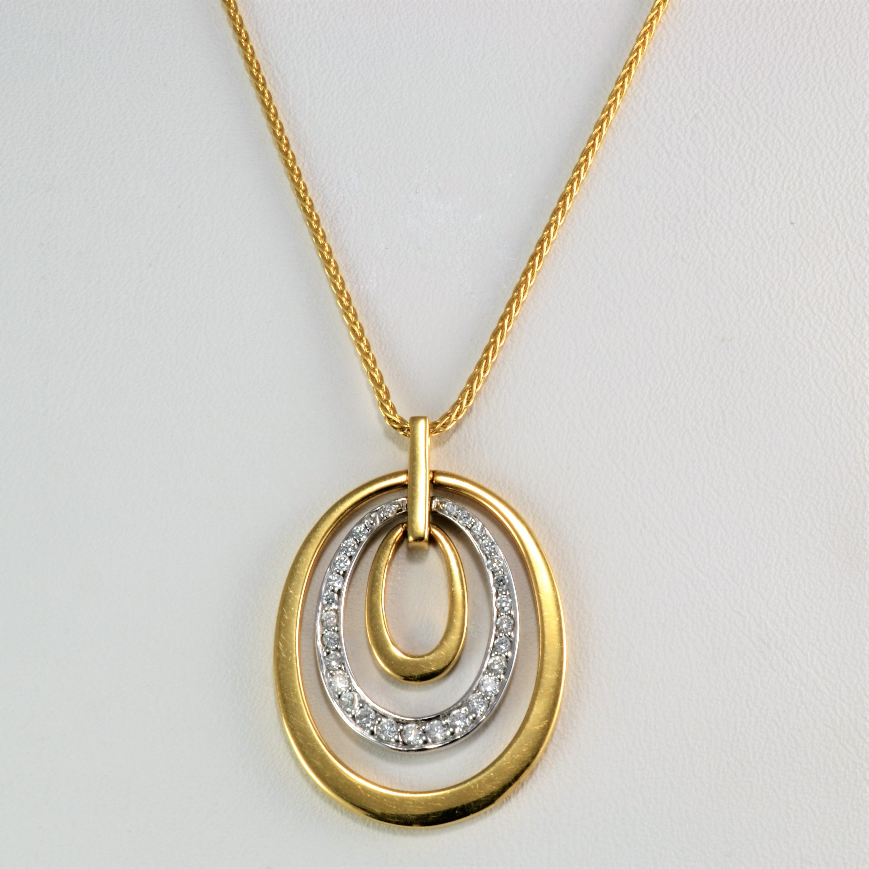 matte photo dainty triple tone circle simple multi necklace geometric circles pendant necklac p finished