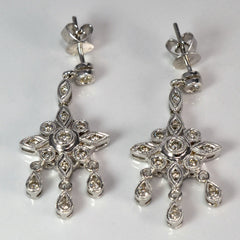 Milgrain Diamond Chandelier Earrings | 0.50ctw |