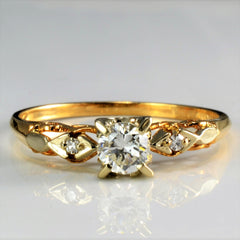 Vintage Retro Diamond Engagement Ring | 0.30 ctw, SZ 8 |