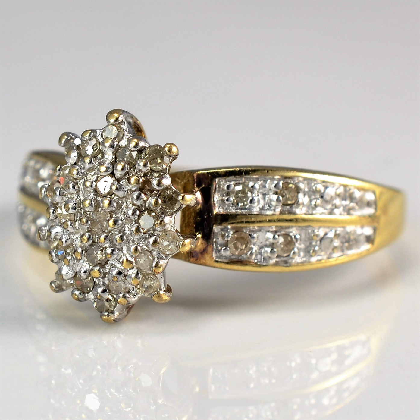 Diamond Cluster Cocktail Ring | 0.20 ctw, SZ 8.75 |