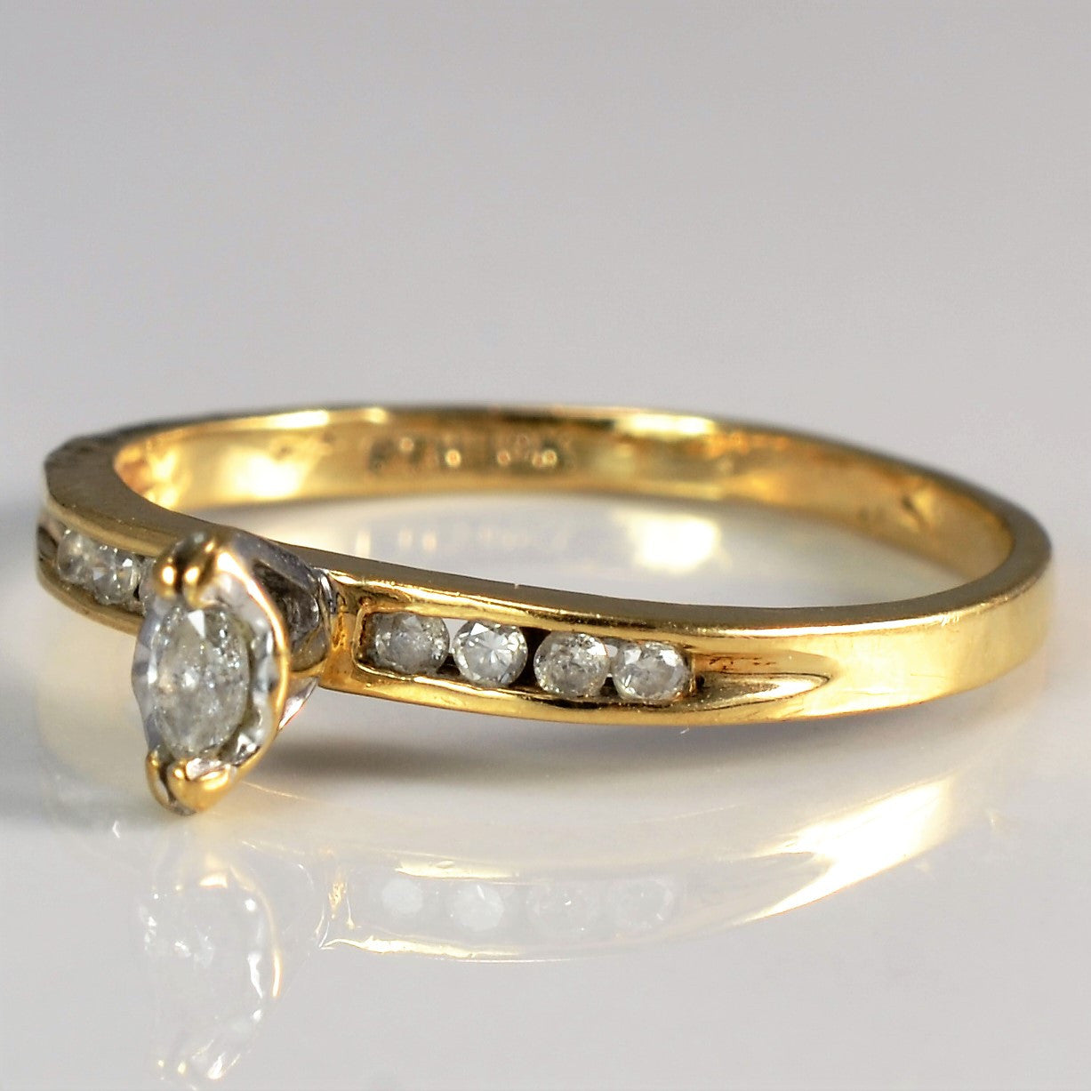 Marquise Cut Diamond Ring | 0.15 ctw, SZ 7 |
