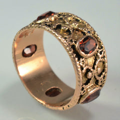 Custom Filigree Oval Garnet Ring | 1.75 ctw, SZ 8 |