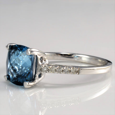 Cathedral Set Topaz & Diamond Promise Ring | 0.10 ctw, SZ 6.5 |