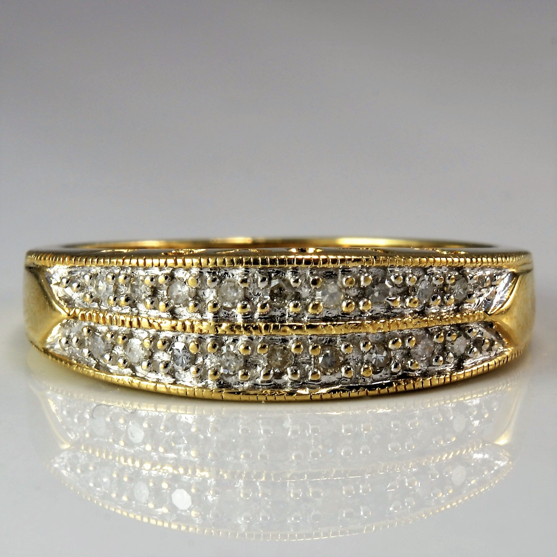 'I Love You' Double Row Diamond Band | 0.09 ctw, SZ 7 |