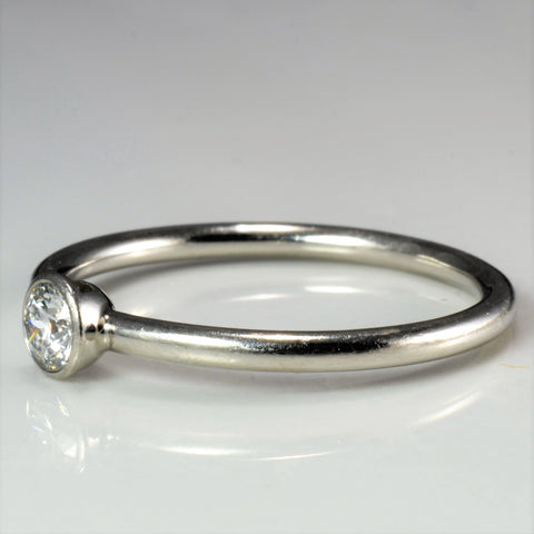 TIFFANY & CO. Bezel Set Solitaire Diamond Ring | 0.20 ct, SZ 7.5 |