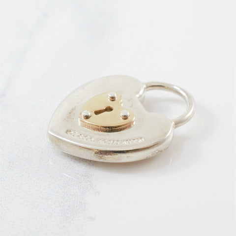 'Tiffany & Co.' Two Tone Heart Lock Pendant
