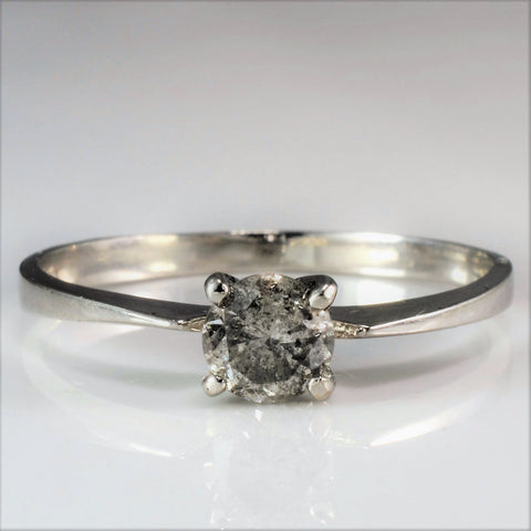 Petite Solitaire Diamond Engagement Ring SZ 6.5