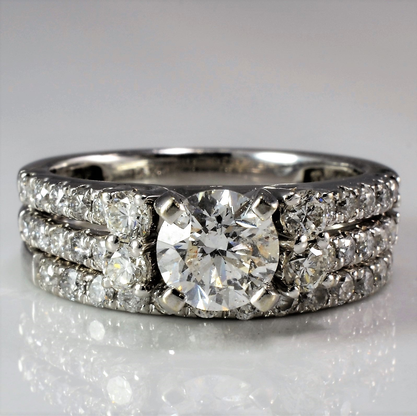 rings illustrious band diamond intensive ring engagement
