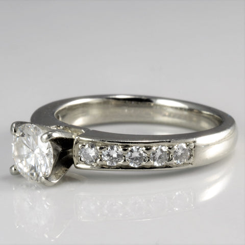 Solitaire with Accents Diamond Engagement Ring | 0.71 ctw, SZ 5 |