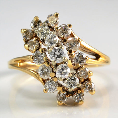Cascading Split Shank Diamond Ring | 0.85 ctw, SZ 6 |