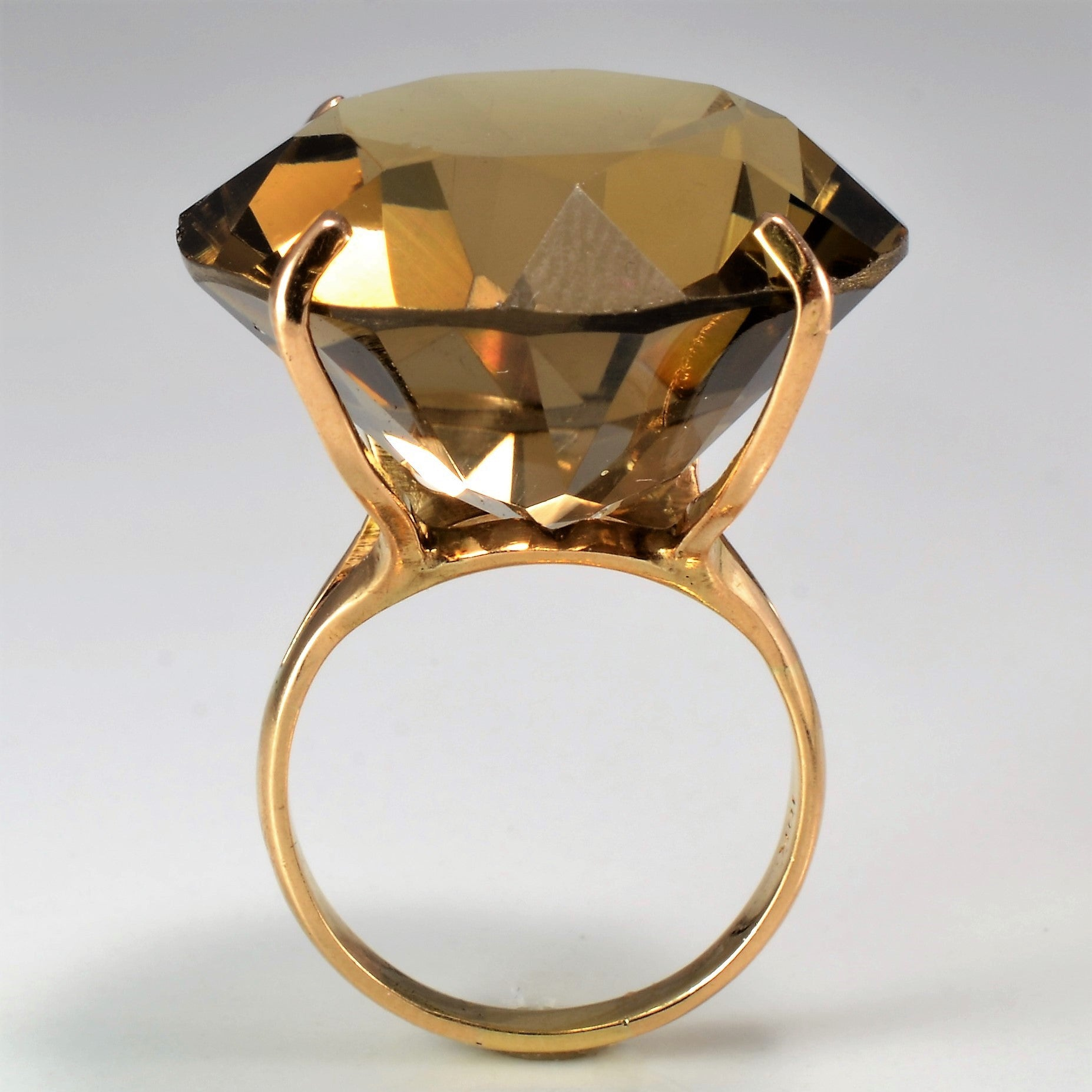 Smoky Quartz Gold Fashion Ring | 30.00ct | SZ 5 |