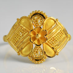22K Gold Floral Ring | SZ 8.5 |