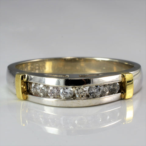 Two Tone Diamond Wedding Band SZ 8