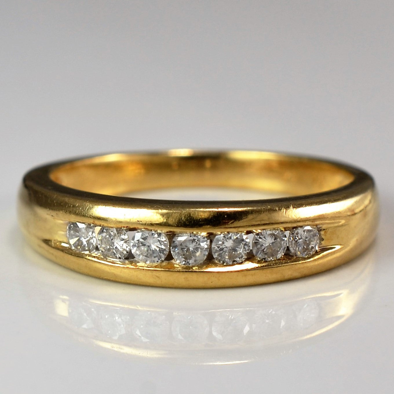 Channel Set Diamond Ring | 0.20 ctw, SZ 7.5 |