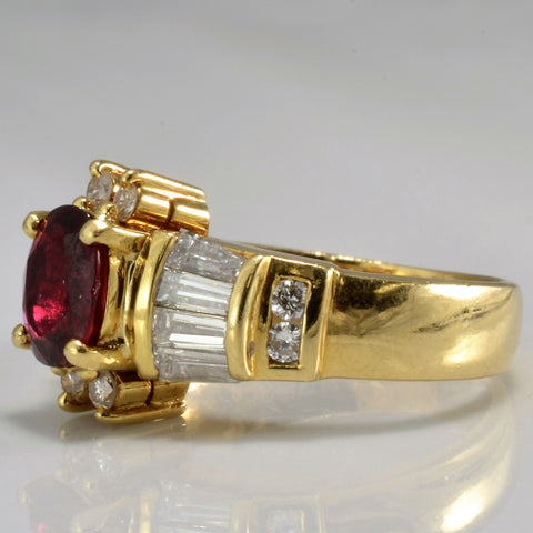 Stunning Custom Ruby And Diamond Ring SZ 5.25