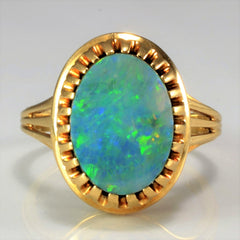 Vintage Oval Opal Ring | SZ 8.25 |