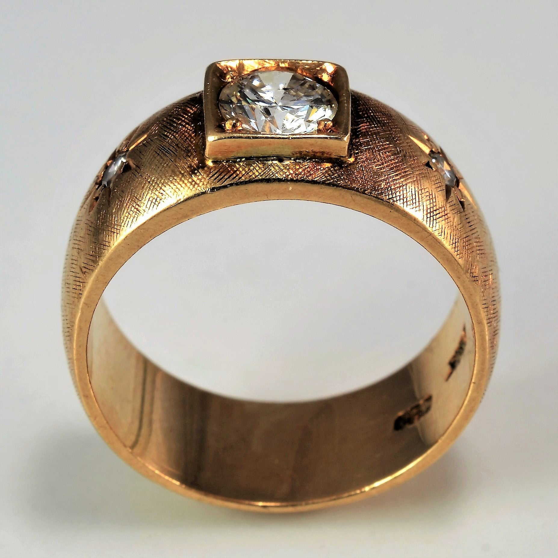 Vintage Wide Band Engagement Ring | 0.41 ctw, SZ 4.75 |