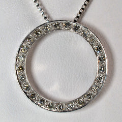 Diamond Circle Necklace | 0.25 ctw, 18"