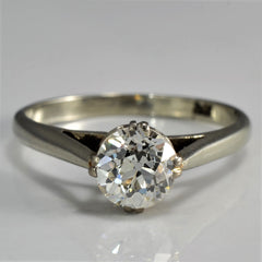 Old European Cut Diamond Solitaire Engagement Ring | 0.95 ct, SZ 7.5 |
