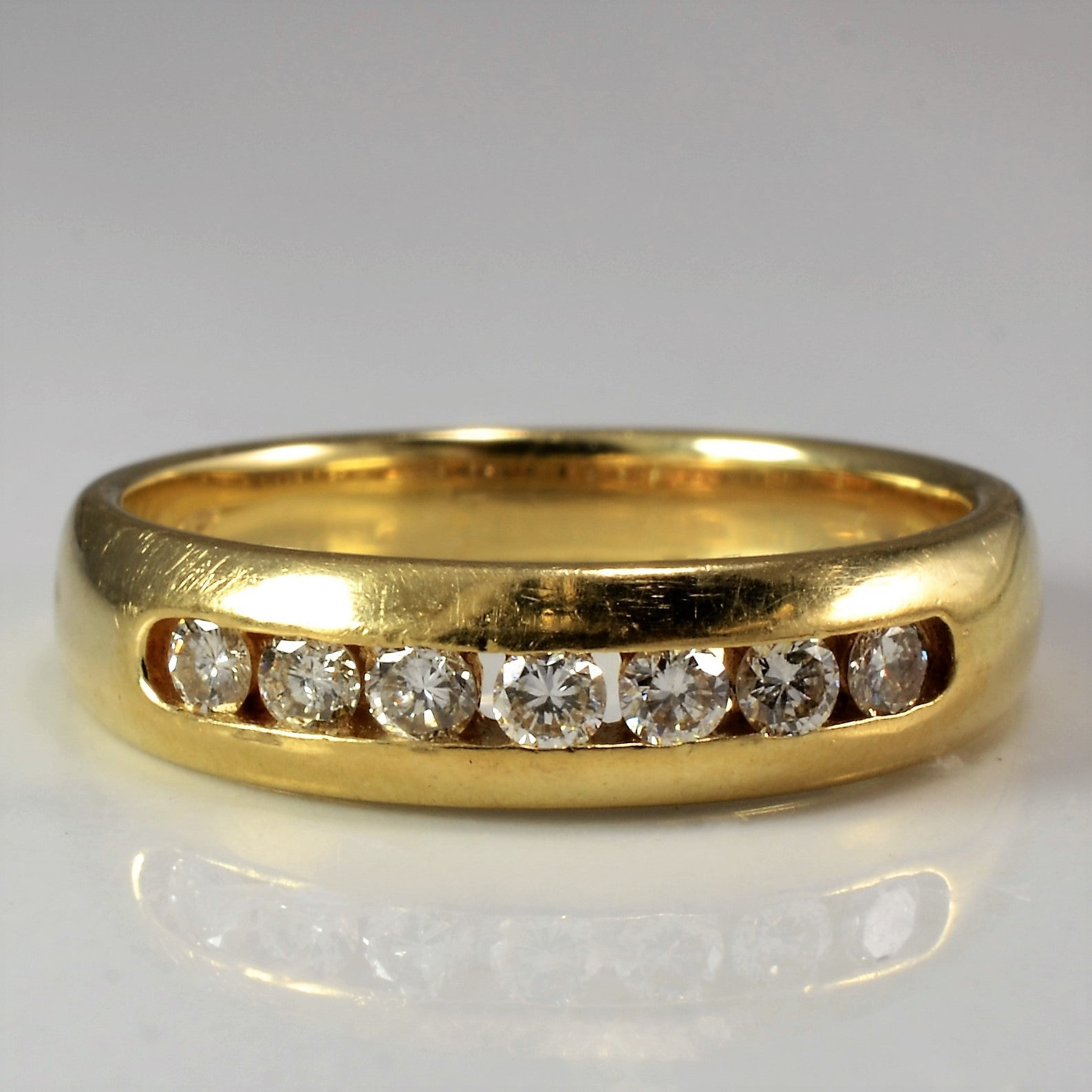Channel Set Diamond Wedding Band | 0.28 ctw, SZ 6 |