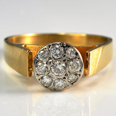 Wide Band High Illusion Set Diamond Ring | 0.25 ctw, SZ 7 |