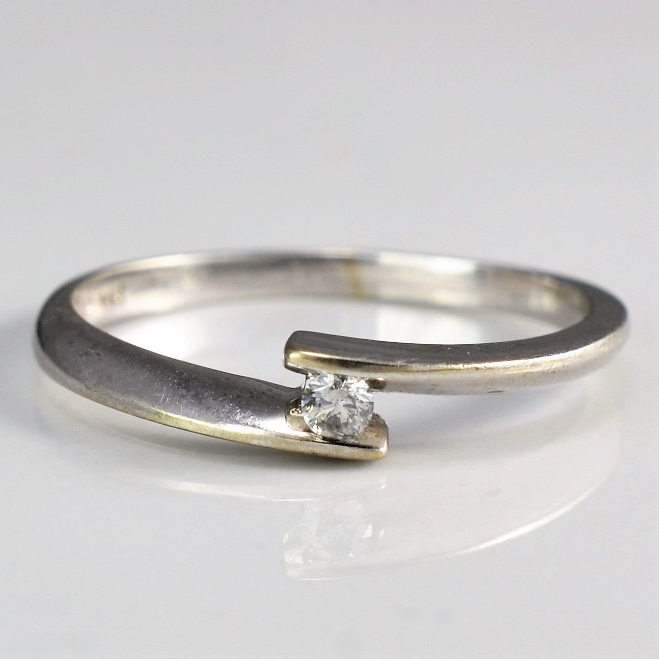 Tension Set Bypass Diamond Promise Ring | 0.06 ct, SZ 6.75 |