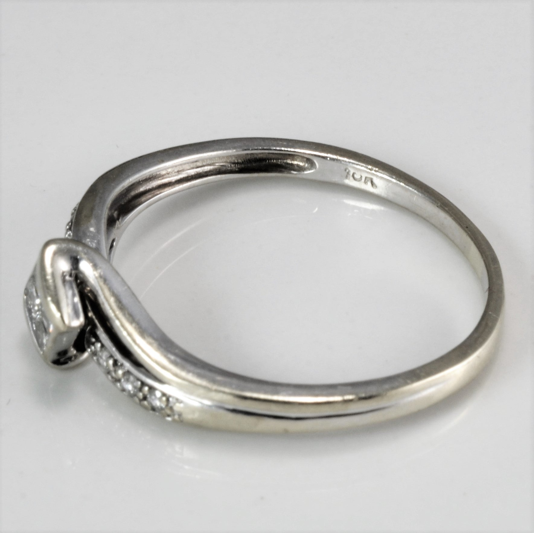 Bypass Diamond Ring | 0.16 ctw, SZ 7.25 |