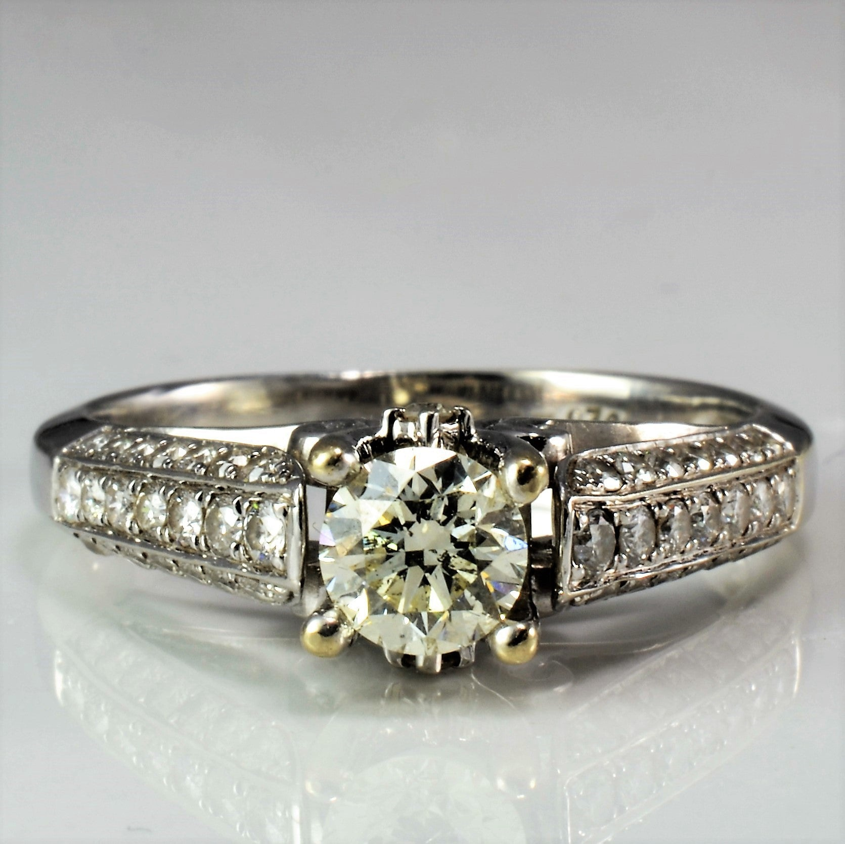 Intricate Cathedral Engagement Ring | 1.29 ctw, SZ 7.75 |