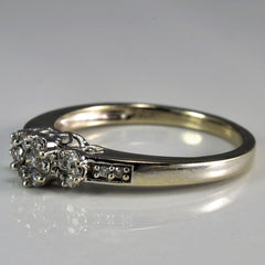 Floral Diamond Cluster Trio Promise Ring | 0.25 ctw, SZ 7 |