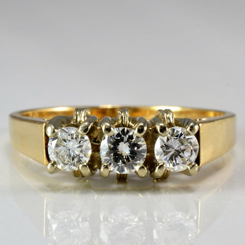 Three Stone Diamond Ring SZ 6.25