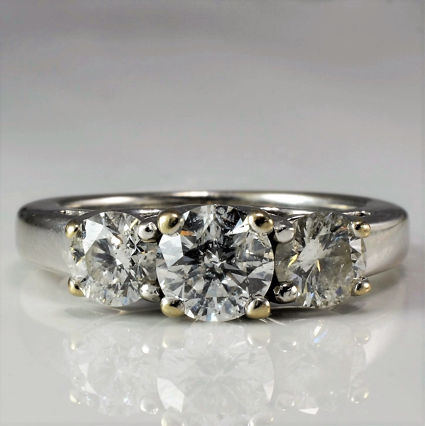 Three Stone Diamond Engagement Ring | 1.17 ctw, SZ 4.5 |