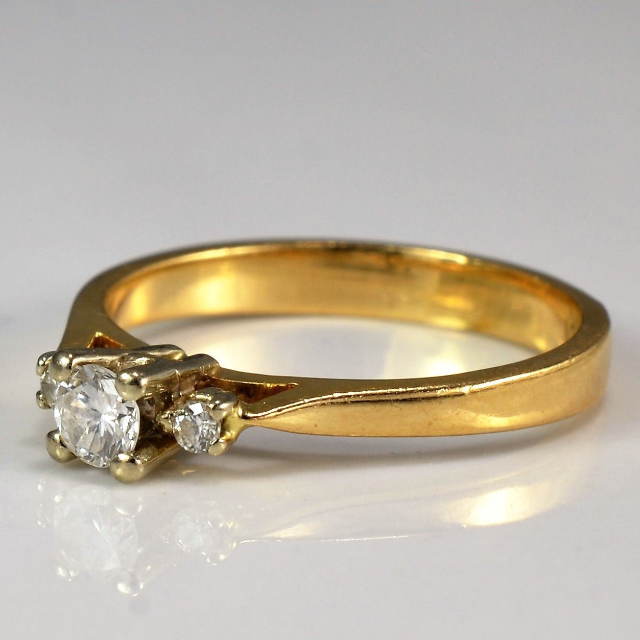 Three Stone Promise Ring | 0.16 ctw, SZ 5 |