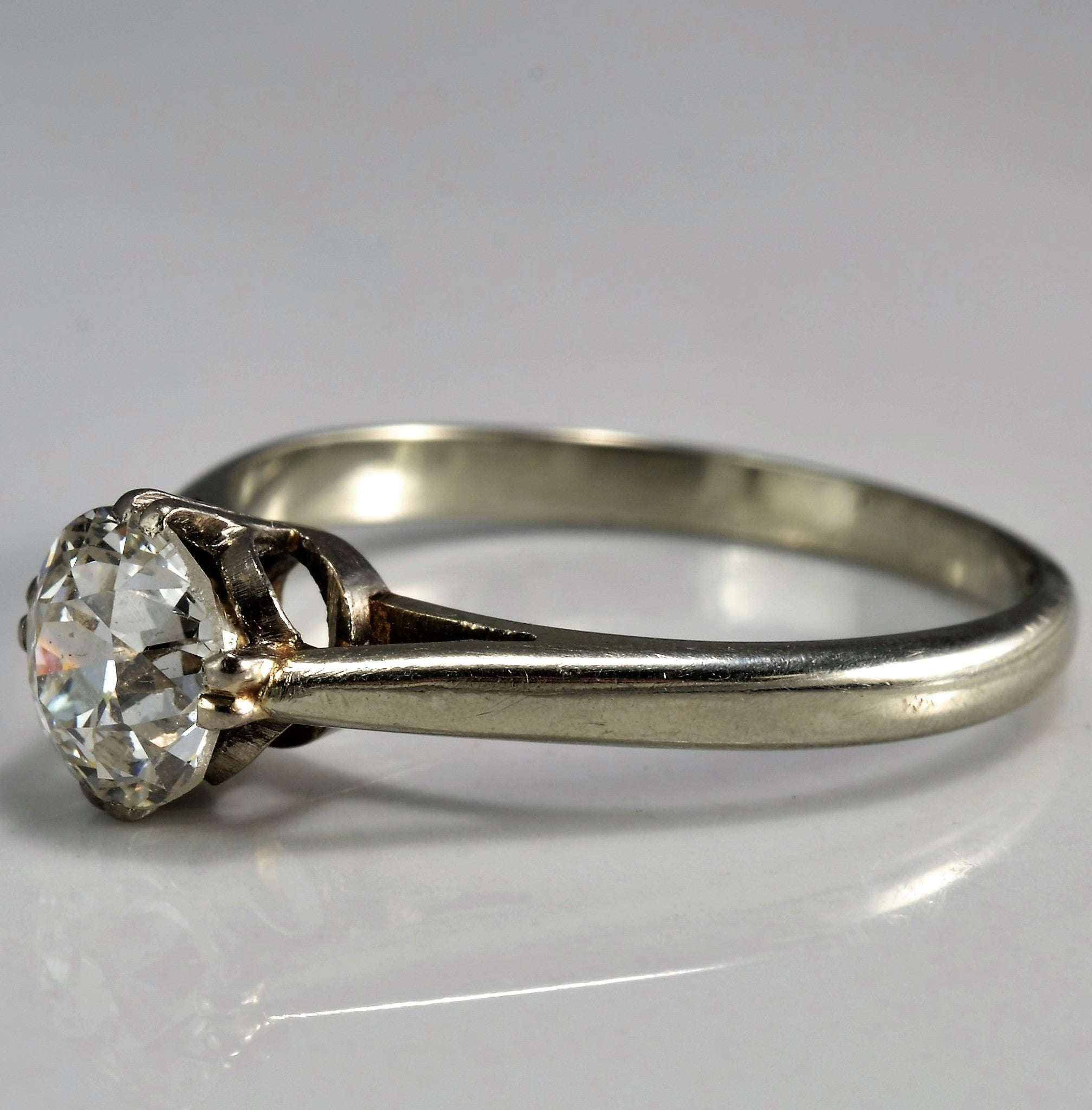 Early Retro Era Solitaire Engagement Ring | 0.95 ct, SZ 7.5 |