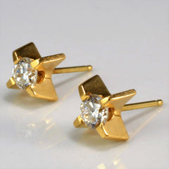 Four Prong Set Diamond Stud Earrings | 0.44 ctw |
