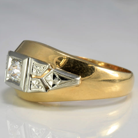 Classic Illusion Set Art Deco Diamond Band | 0.25 ct, SZ 10 |