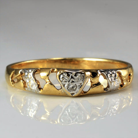 Abstract Open Band Diamond Ring | 0.03 ctw, SZ 6.75 |